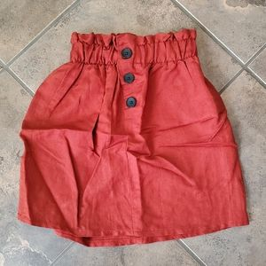 NWT XS burnt orange linen skirt